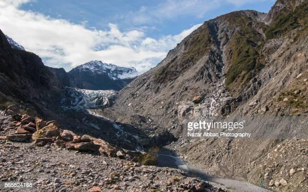 Fox Glacier in South Island of New Zealand.