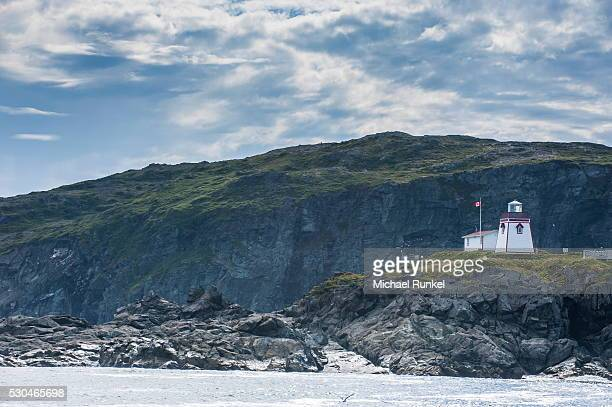 Fox Head lighthouse in St. Anthony, Newfoundland, Canada, North America