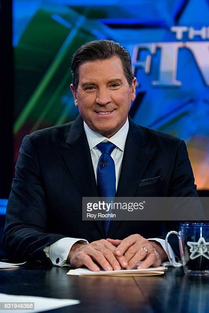 Fox Host Eric Bolling sits on the panel of Fox News Channel's 'The Five' as pundit Bob Beckel rejoins the show at FOX Studios on January 17 2017 in...