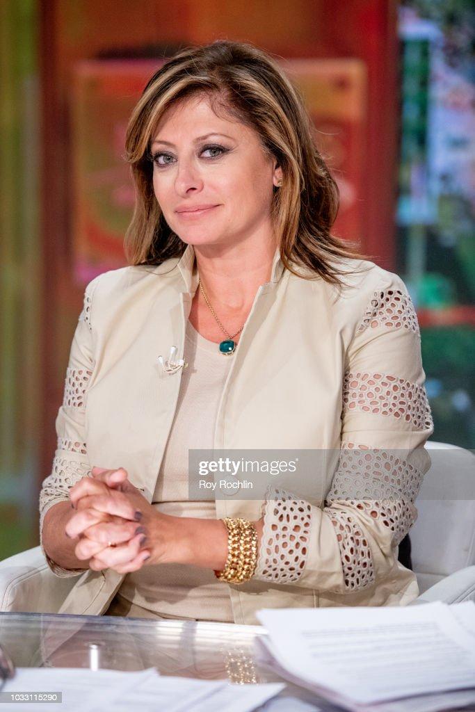 Fox host Maria Bartiromo as Bethenny Frankel visits Fox Business Network at Fox Business Network to discuss Hurricane Florence Studios on September 14, 2018 in New York City.