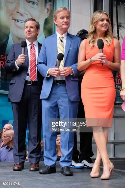 Fox hosts Ed Henry Steve Doocy and Jillian Mele attend Fox Friends' AllAmerican Summer Concert Series at FOX Studios on June 23 2017 in New York City
