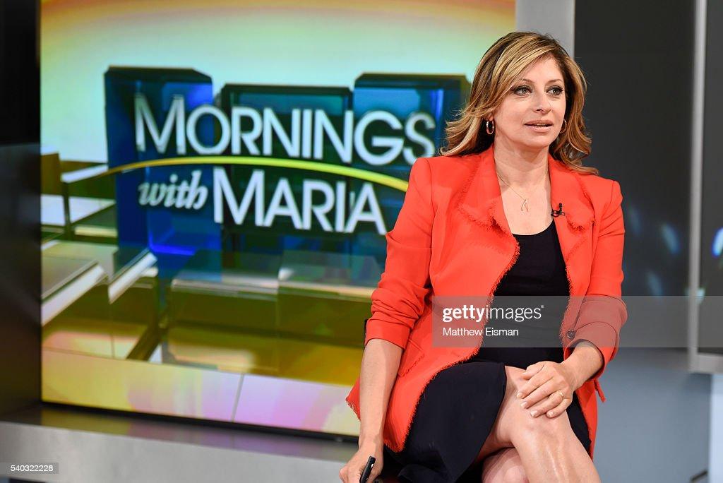 Fox News anchor Maria Bartiromo visits Fox Business Network at FOX