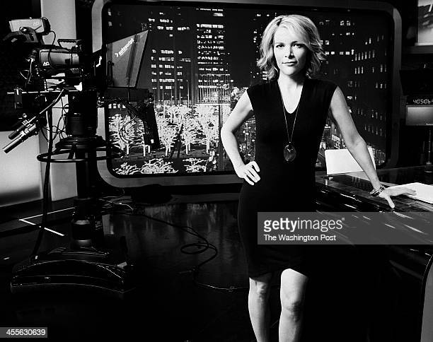 Fox News anchor Megyn Kelly stands on the set of her new hit program The Kelly File in New York NY on December 6th 2013 Kelly originally a lawyer...