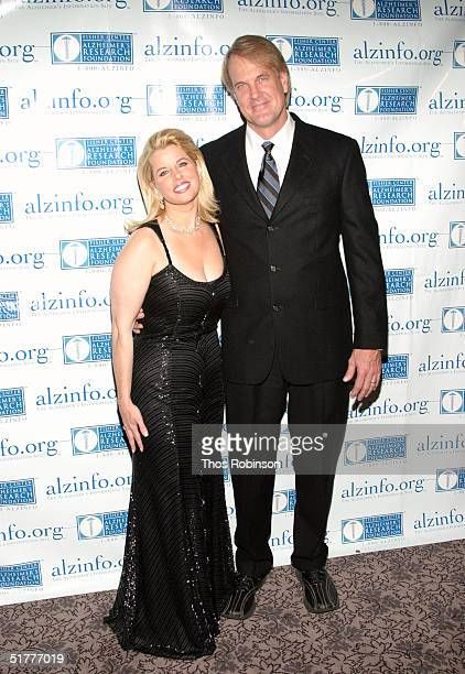 Fox News anchor Rita Cosby and Musician John Tesh attend the Fisher Center Gala at JeanGeorges V Steakhouse November 22 2004 in New York City