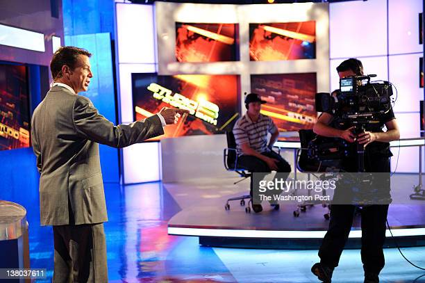 Fox News anchor Shepard Smith on the set of Studio B with Shepard Smith during a rehersal at Fox News studios in New York Fox News Channel celebrated...