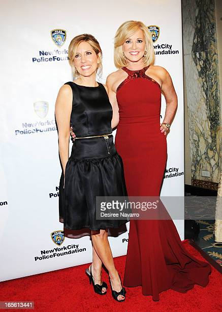 Fox News anchors Alisyn Camerota and Jamie Colby attend the 2013 New York Police Foundation Gala at The Waldorf Astoria on April 4 2013 in New York...