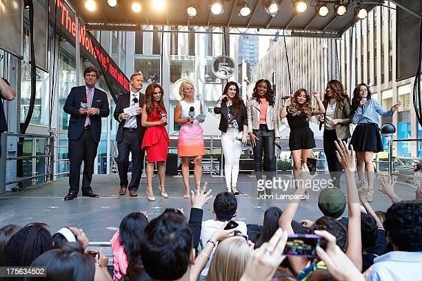 Fox News Anchors Ally Brooke Hernandez Normani Hamilton Lauren Jauregui Dinah Jane Hansen and Camila Cabello of Fifth Harmony attend FOX Friends...