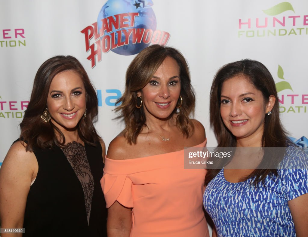 Fox News Anchors Teresa Priolo, Rosanna Scotto and Ines Rosales pose at a celebration for The Hunter Foundation Charity that helps fund programs for families and youth communities in need of help and guidance at Planet Hollywood Times Square on July 11, 2017 in New York City.