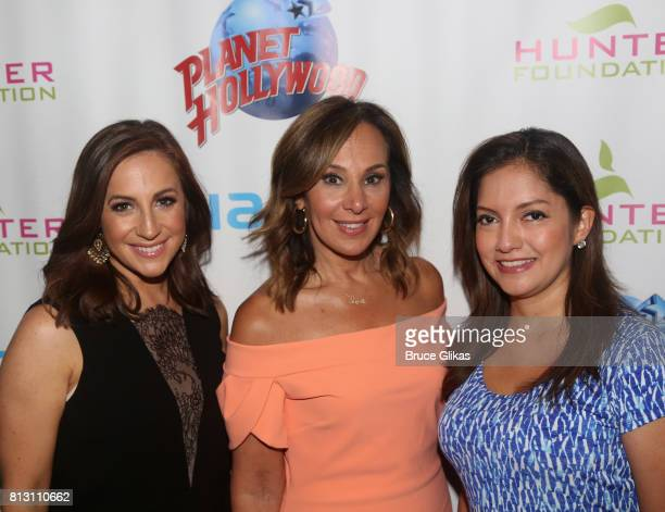 Fox News Anchors Teresa Priolo Rosanna Scotto and Ines Rosales pose at a celebration for The Hunter Foundation Charity that helps fund programs for...