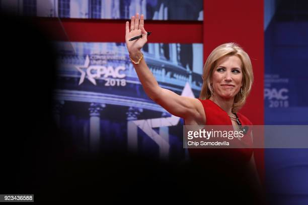 Fox News Channel host Laura Ingraham addresses the Conservative Political Action Conference at the Gaylord National Resort and Convention Center...