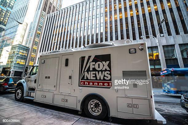 Fox News Channel Truck parked on New York street, USA