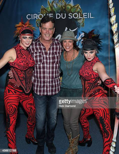 Fox News Channel's John Roberts with HLN Anchor Kyra Phillips attend Amaluna opening night at the Big Top at Atlantic Station on October 3 2014 in...