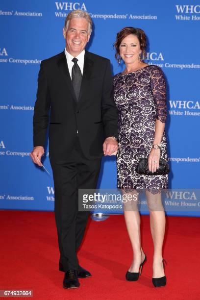 Fox News Correspondent John Roberts and Reporter Kyra Phillips attend the 2017 White House Correspondents' Association Dinner at Washington Hilton on...
