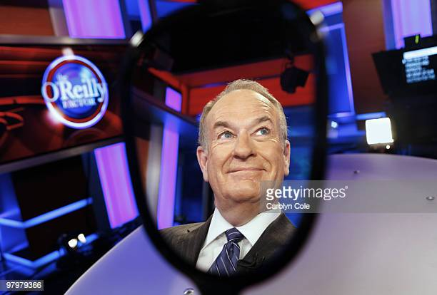 Fox News Host Bill O'Reilly poses for a portrait session for the Los Angeles Times on March 15 New York NY Published Images CREDIT MUST READ Carolyn...