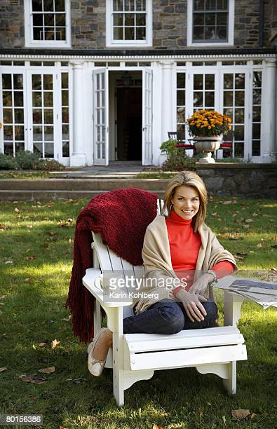 Fox news host Heather Nauert is photographed with her husband Scott at their home on the north shore of Long Island for Page Six Magazine