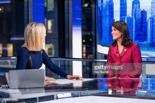United States Ambassador to the United Nations Nikki Haley visits 'The Story' With Martha MacCallum prior to the UN General Assembly at Fox News...