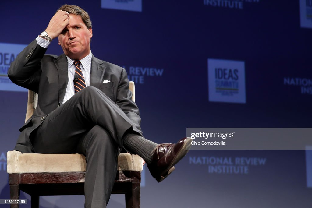 Fox News Host Tucker Carlson Appears At National Review Ideas Summit : News Photo
