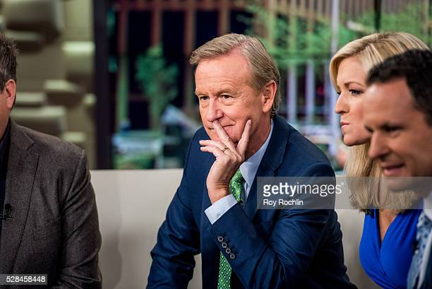 Fox News Hosts Steve Doocy and Ainsley Earhardt during actor Eric Stonestreet and Mother Jamey Stonestreet Visit Fox Friends at FOX Studios on May 5...