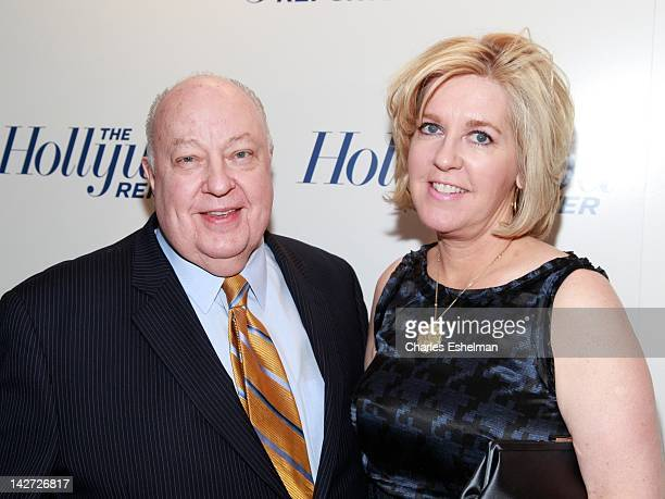 Fox News President Roger Ailes and wife Elizabeth Tilson Ailes attend the Hollywood Reporter celebrates The 35 Most Powerful People in Media at the...