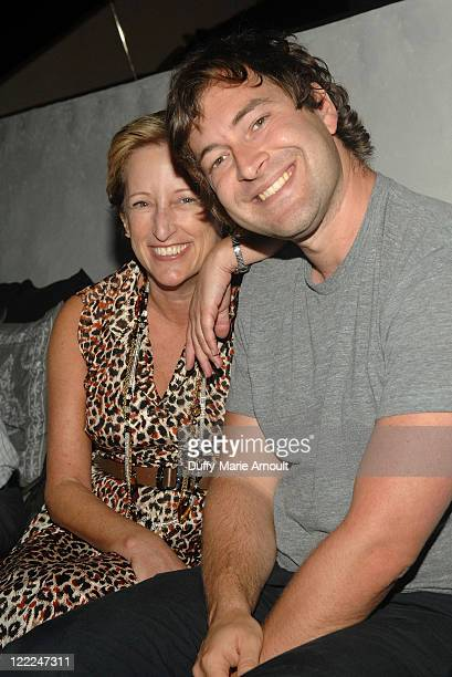 Fox president of production Claudia Lewis and writer/director Mark Duplass attend the 2010 Los Angeles Film Festival launch dinner held at Red O on...