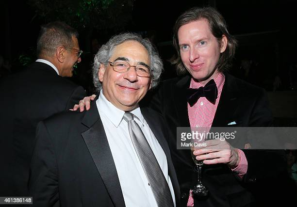 Fox Searchlight CoPresident Steve Gilula and director Wes Anderson attend The 72nd Annual Golden Globe Awards at The Beverly Hilton on January 11...