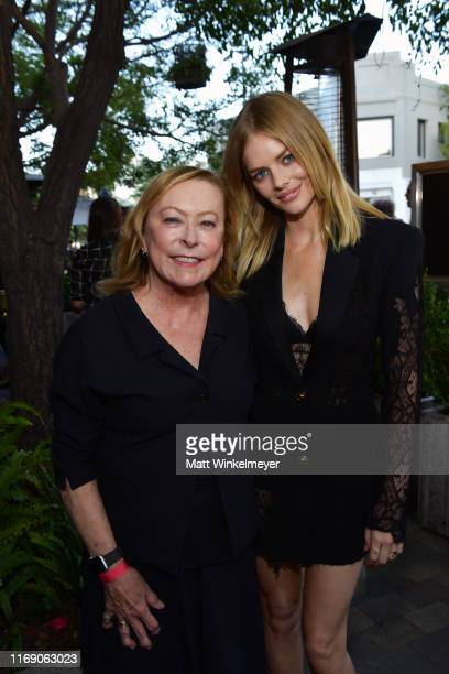 Fox Searchlight Pictures Chairman Nancy Utley and Samara Weaving attend the LA Screening Of Fox Searchlight's Ready Or Not at ArcLight Culver City on...