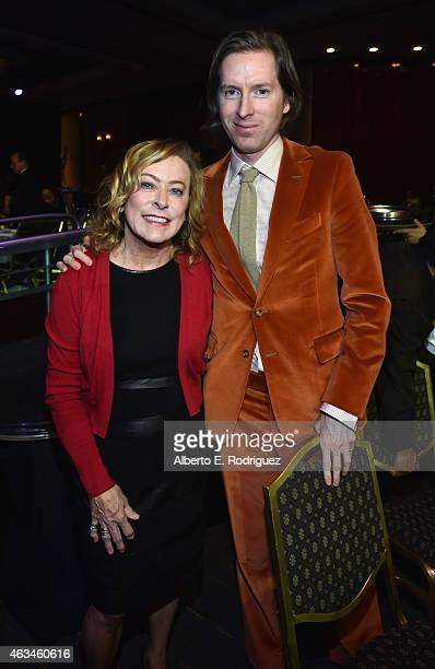 Fox Searchlight Pictures President Nancy Utley and writerdirector Wes Anderson attend the 2015 Writers Guild Awards LA Ceremony at the Hyatt Regency...