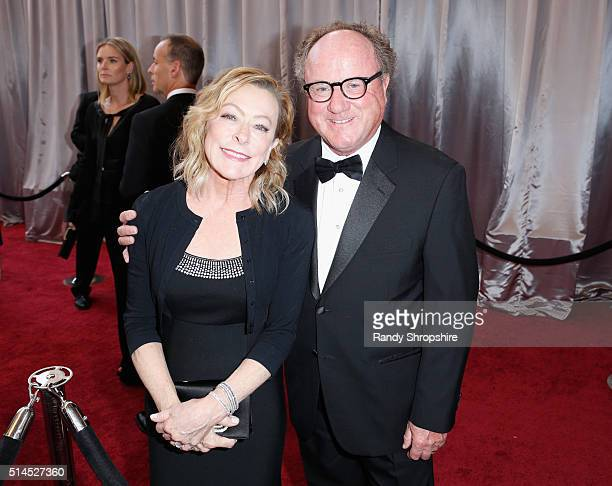 Fox Searchlight President Nancy Utley and Raymond Fitzpatrick attend the 88th Annual Academy Awards at Hollywood Highland Center on February 28 2016...