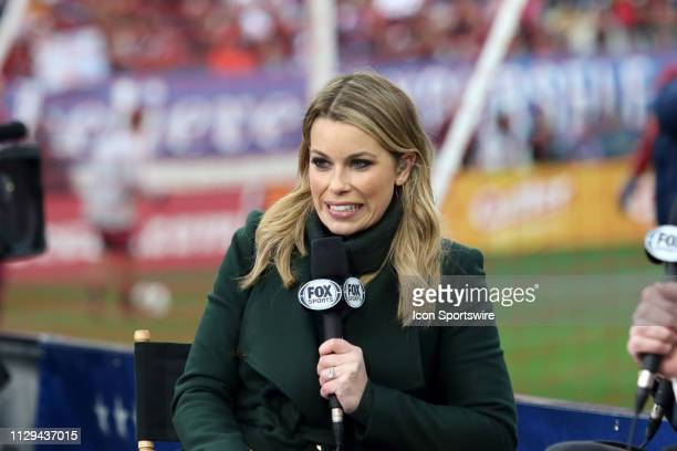Fox Soccer Analyst Jenny Taft during the SheBelieves Cup match between the United States and England at Nissan Stadium on March 2nd 2019 in Nashville...