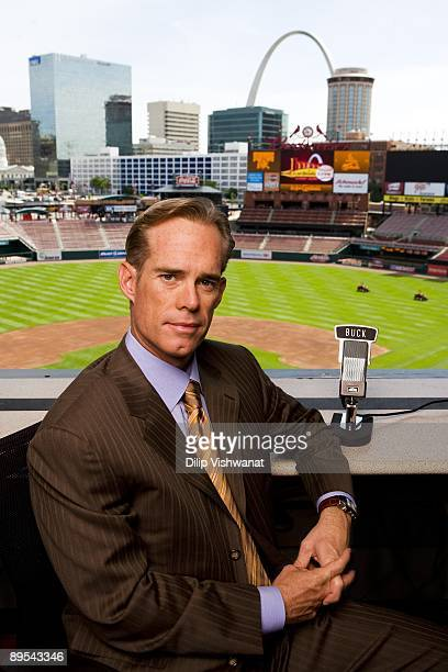 Fox Sports broadcaster Joe Buck poses for a portrait on May 14 2009 at Busch Stadium in St Louis Missouri