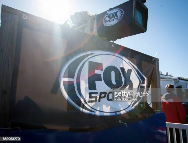 Fox Sports logo displayed during the game between the Kansas Jayhawks and the Kansas State Wildcats on Saturday October 28 2017 at Memorial Stadium...