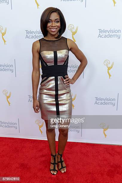 Fox Sports West Reporter Kristina Pink arrives at the 68th Los Angeles Area Emmy Awards at Television Academy on July 23 2016 in Los Angeles...