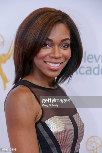 Fox Sports West Reporter Kristina Pink arrives at the 68th Los Angeles Area Emmy Awards at Television Academy on July 23, 2016 in Los Angeles,...