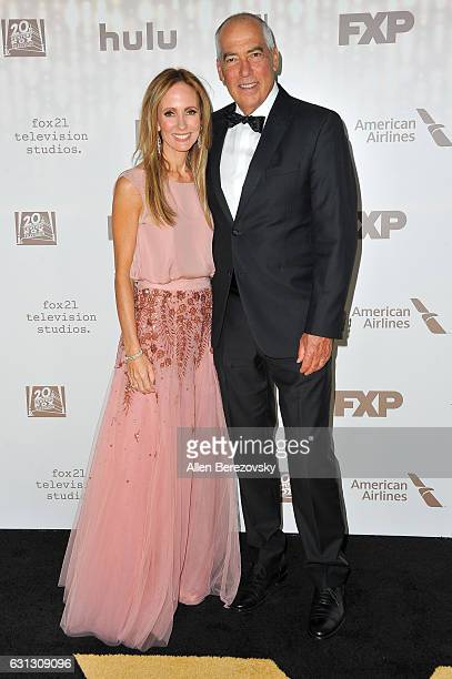 Fox Television Group CoChairman and CEO Dana Walden and Gary Newman attend FOX and FX's 2017 Golden Globe Awards After Party at The Beverly Hilton...