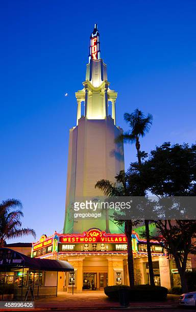 fox theater at westwood village in los angeles, ca - westwood neighborhood los angeles stock pictures, royalty-free photos & images