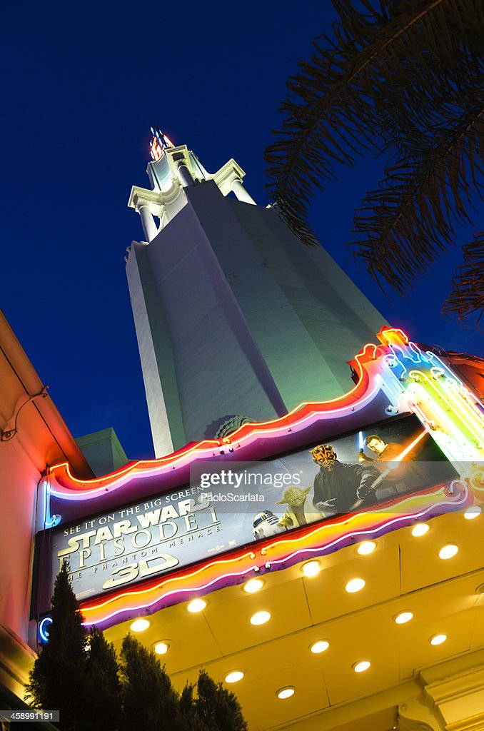 Fox Westwood Village Theatre With Star Wars 3d Movie Poster High Res Stock Photo Getty Images