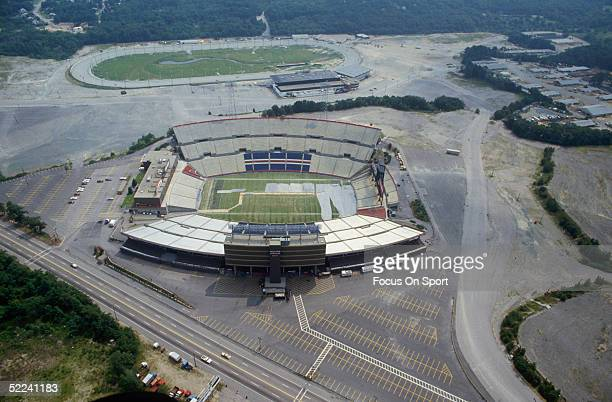 Foxboro Stadium is shown in a circa 1980s photo