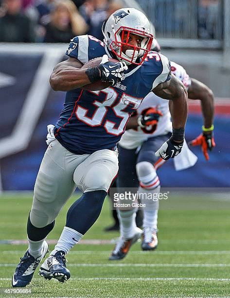 Foxborough MA Patriots RB Jonas Gray rumbles for some second quarter yardage The New England Patriots hosted the Chicago Bears in a regular season...