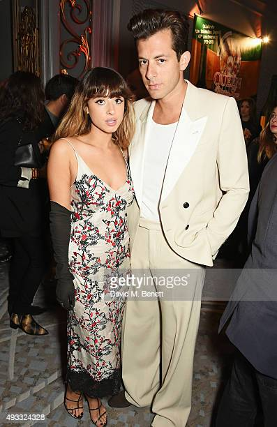 Foxes and Mark Ronson attend The Q Awards drinks reception at The Grosvenor House Hotel on October 19, 2015 in London, England.