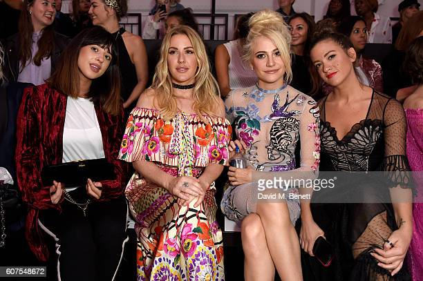 Foxes, Ellie Goulding and Pixie Lott attend the Temperley London show at London Fashion Week Spring/Summer collections 2017 at The Lindley Hall on...