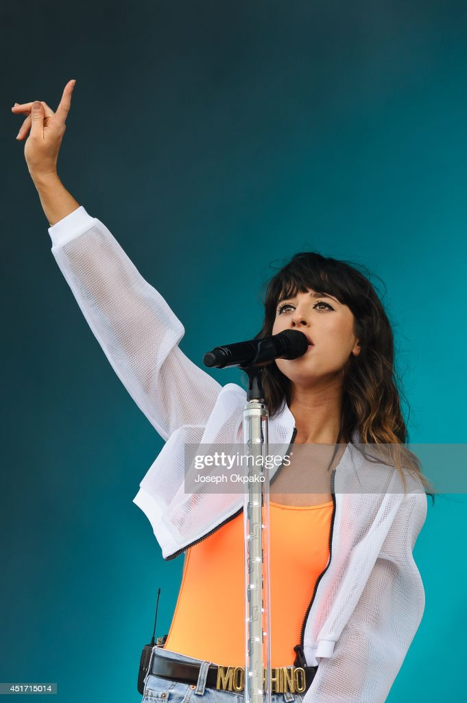 Foxes performs on stage at Wireless Festival at Finsbury Park on July 4, 2014 in London, United Kingdom.