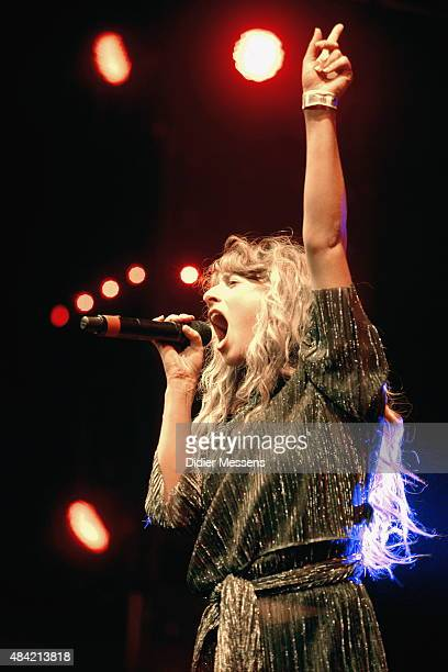 Foxes performs on stage during day six of Sziget festval at Obudai Island on August 15, 2015 in Budapest, Hungary.