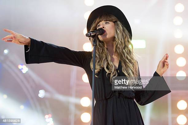 Foxes performs on stage during MTV Crashes Plymouth at Plymouth Hoe on July 22, 2014 in Plymouth, England.