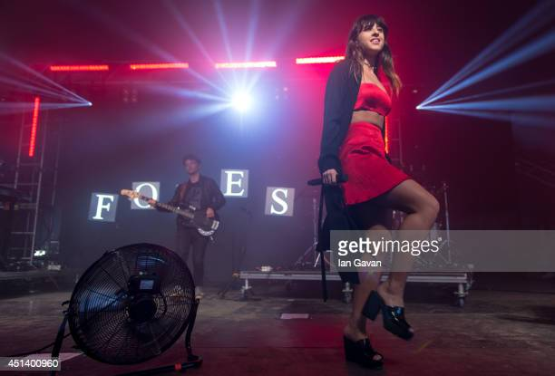 Foxes' performs on the Sonic Stage during Day 2 of the Glastonbury Festival at Worthy Farm on June 28, 2014 in Glastonbury, England.