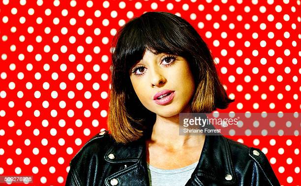 Foxes poses backstage after meeting fans and signing copies of her new album 'All I Need' at HMV Manchester on February 9, 2016 in Manchester,...