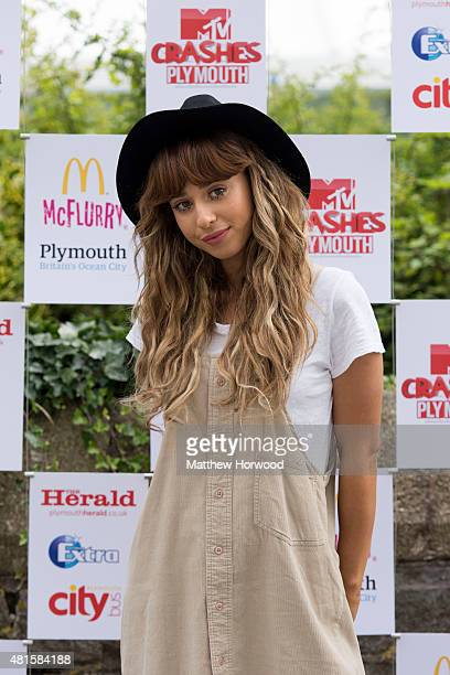Foxes poses for the media ahead of the MTV Crashes Plymouth concert at Plymouth Hoe on July 22, 2014 in Plymouth, England.