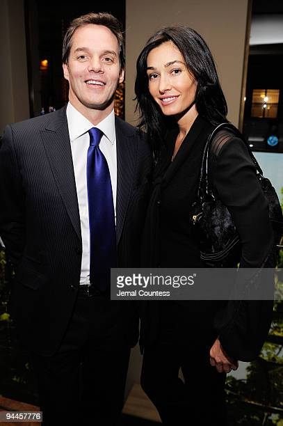 Fox's Bill Hemmer and Dara Tomanovich attend CNN's Dr Sanjay Gupta Cheating Death Book Party at Rogue Tomate on December 14 2009 in New York City...