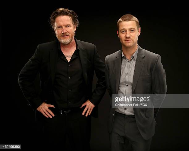 Fox's 'Gotham' actors Donal Logue and Ben McKenzie pose for a portrait during Fox's 2014 Summer TCA Tour at The Beverly Hilton Hotel on July 20 2014...