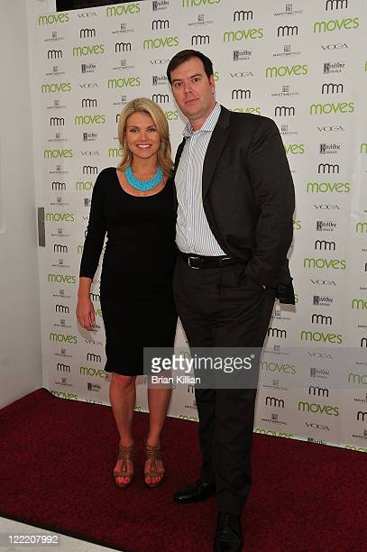 Fox's Heather Nauert and Christopher Siversen attend Moves Summer 2010 at Studio 450 on July 6 2010 in New York City