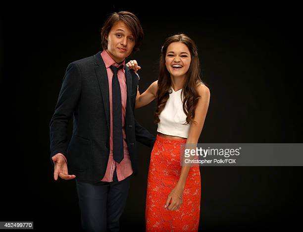 Fox's 'Red Band Society' actors Nolan Sotillo and Ciara Bravo pose for a portrait during Fox's 2014 Summer TCA Tour at The Beverly Hilton Hotel on...